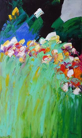 Хаттин Валерий / Khattin Valery - Дикие цветы  \ Wild flowers - 100x60 sm