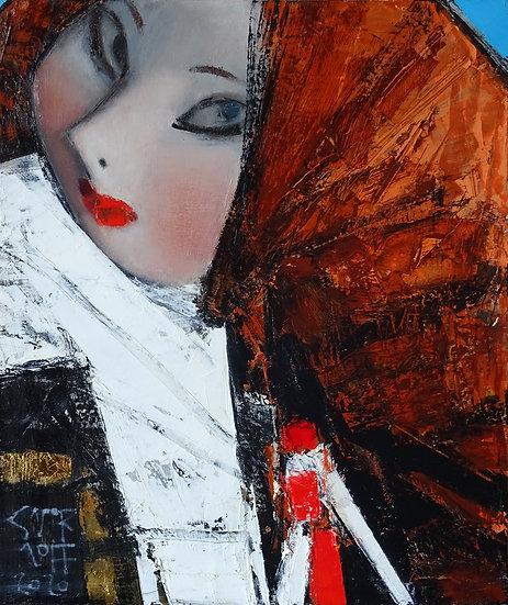 Смирнов Андрей / Andrey  Smirnoff – Рыжая  \ Red head -60x50 sm
