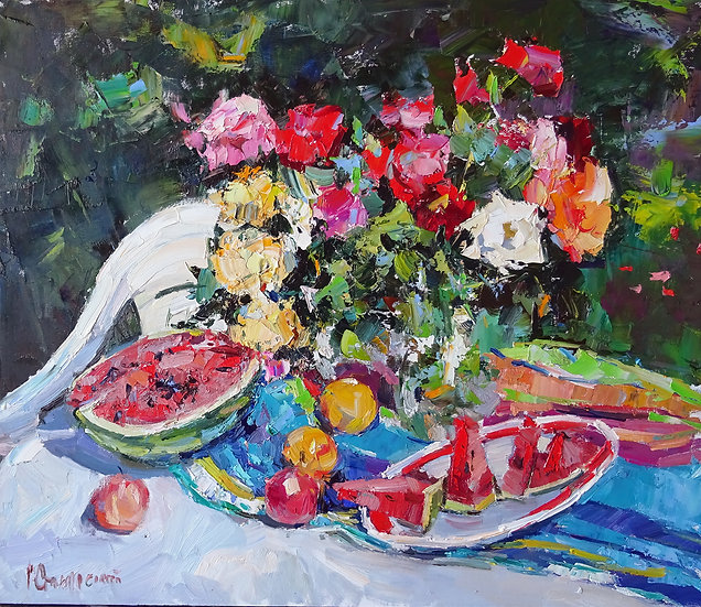 Рустем Стахурский \ Rustem Stakhurskiy  - Дары лета \Gifts of the summer - 60x70