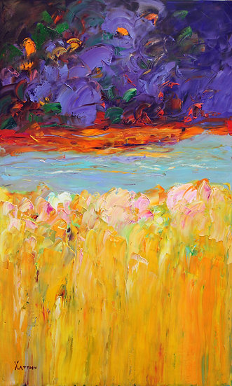 Хаттин Валерий / Khattin Valery - Пейзаж  \ Landscape - 100x60 sm