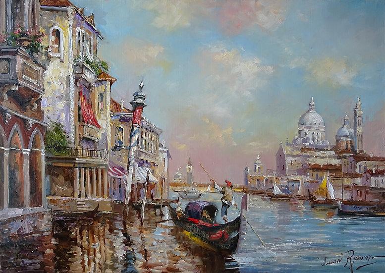 Rychkov Alexey \ Rychkov Alexey - Venetian afternoon \ Venetian afternoon 50х70
