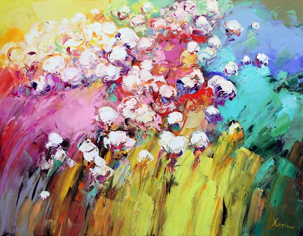Валерий Хаттин - Полевые цветы - 70х90 см