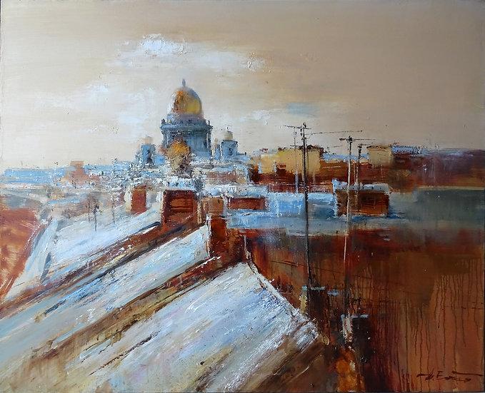 Ермолов Дмитрий / Ermolov Dmitry - Крыши / Roofs - 90x110 sm