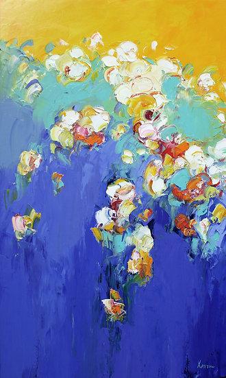 Хаттин Валерий / Khattin Valery - Цветы  \ Flowers - 100x60 sm