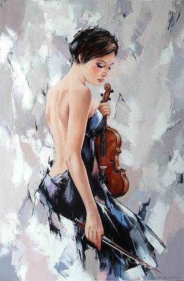 Александр Гунин \ Alexander Gunin  - Девушка со скрипкой \ Girl with violin