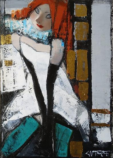 Смирнов Андрей / Andrey  Smirnoff – Зеленые чулочки \ Green stockings – 70x50 см