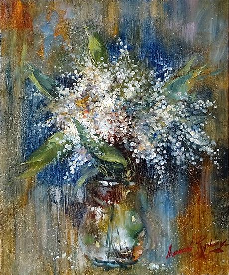 Рычков Алексей \ Rychkov Alexey - Ландыши \ Lilies of the valley - 50x40 sm