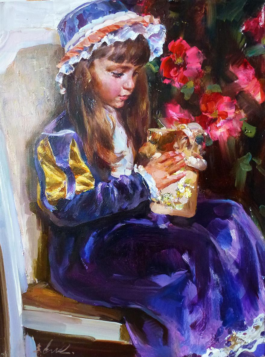 Владимир Ежаков - Портрет Лтзы - 80х60