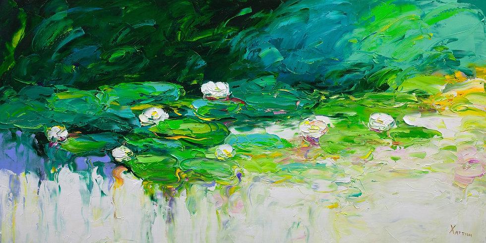 Khattin Valery - Lilies \ Lily - 60x120 sm