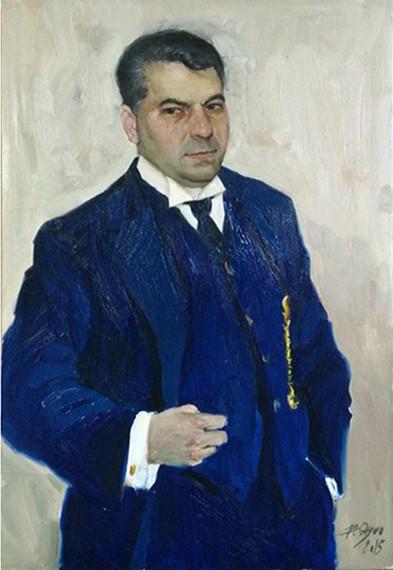 Отгоо Бадам - Мужской портрет - 80х60