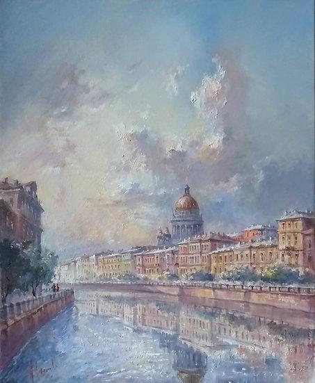 Юрий Степанов / Yuri Stepanov - Мойка \ Moyka river - 52x42 sm