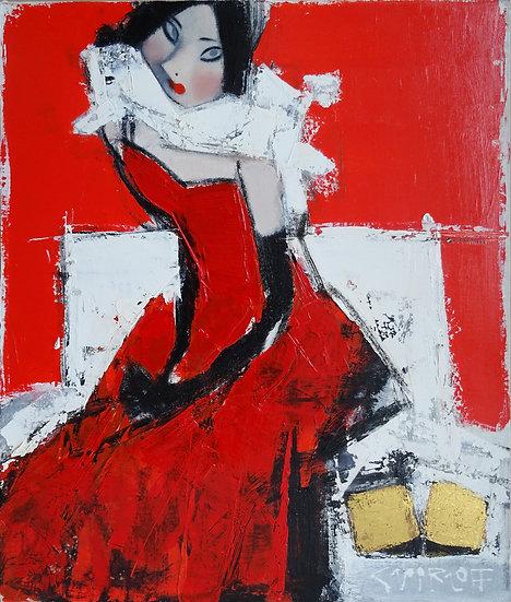 Смирнов Андрей / Andrey  Smirnoff – Красное \ Red dress – 60x50