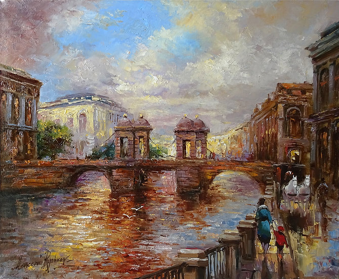 Рычков Алексей - Прогулка у моста Ломоносова