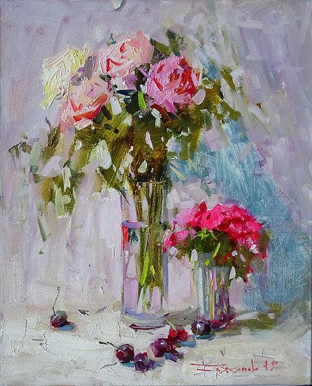 Владимир Баженов \ Vladimir Bazhenov – Розы \ Roses  - 60х50 см