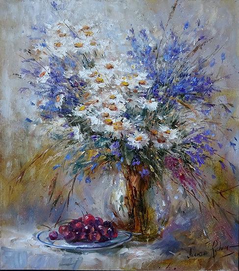 Alexey Rychkov / Alexey Rychkov - Field bouquet \ Wild flowers - 60x50 cm