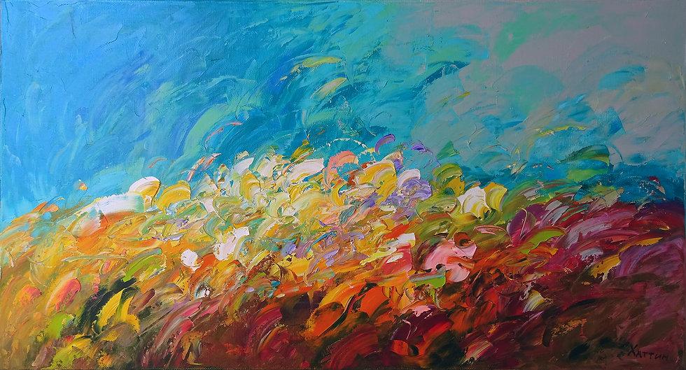 Хаттин Валерий / Khattin Valery - Трава  \ Grass - 60x110 sm
