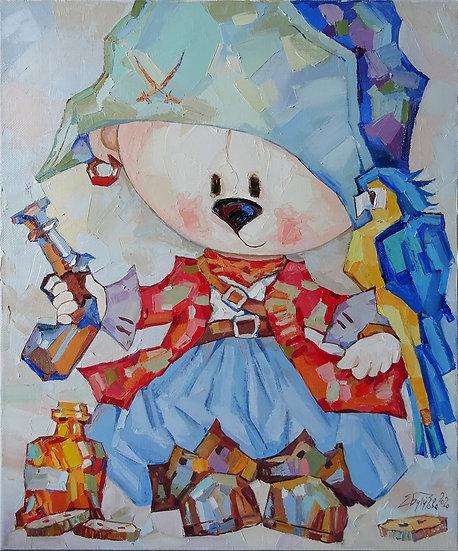Елена Бутузова \ Elena Butuzova - Мишка Пират \ Little pirate - 60x5