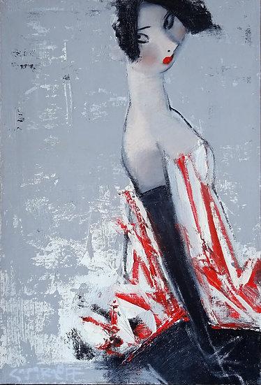 Смирнов Андрей / Andrey  Smirnoff – Красные полоски \ Red stripes - 60x40
