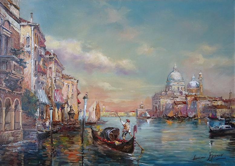 Рычков Алексей \ Rychkov Alexey - Венецианский полдень \Venetian afternoon 50х70
