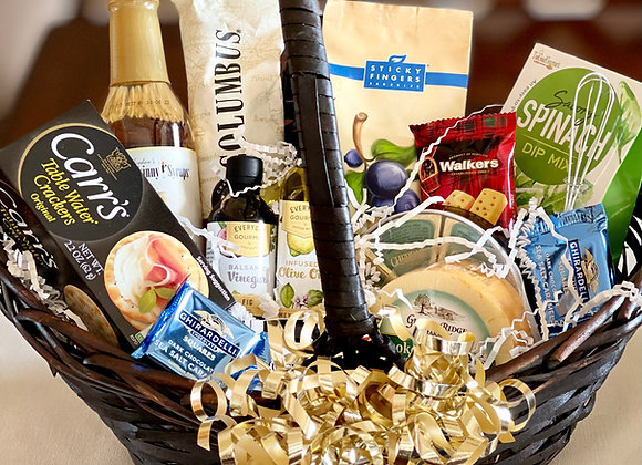 Deluxe Cheese & Cracker Basket