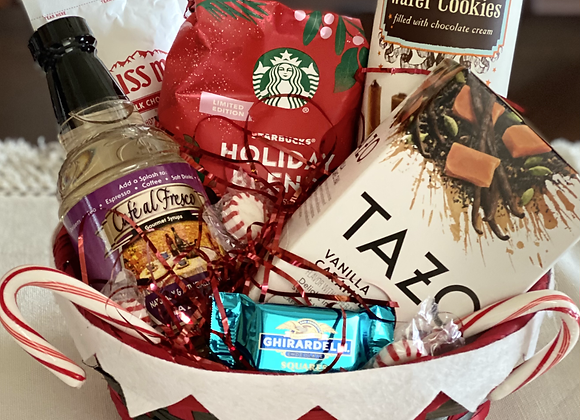 Coffee, Tea, and Hot Cocoa Basket