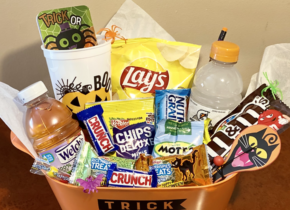 """""""Eat Drink, & Be Scary"""" Mini Basket"""