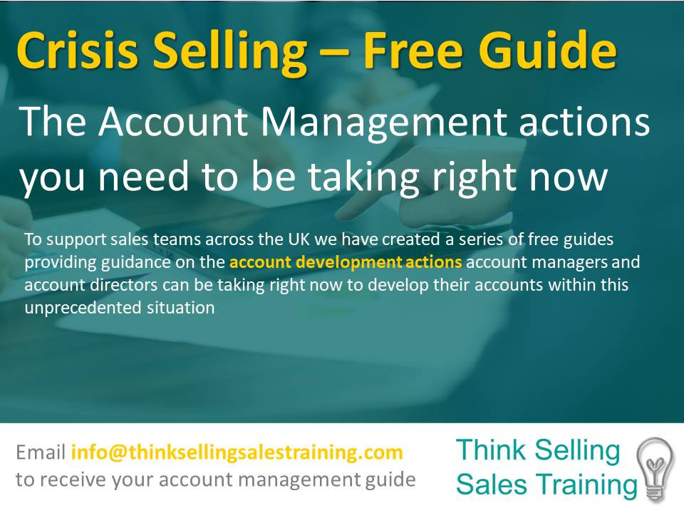 Crisis Selling Free account management r