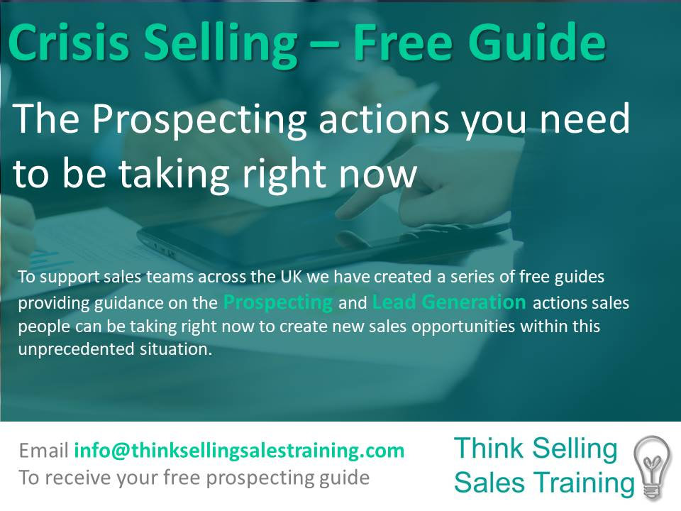 Crisis Selling Free prospecting report v
