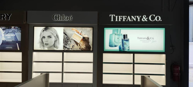 Backlit printing for luxury brand1.