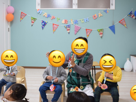 12/19 12月のお誕生日会 福岡県 飯塚市 堀池 飯塚ママー保育園