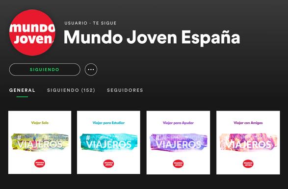 Perfil en Spotify