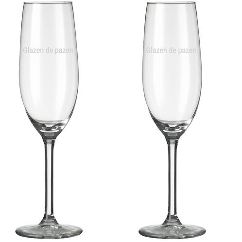 Glazen de pazen