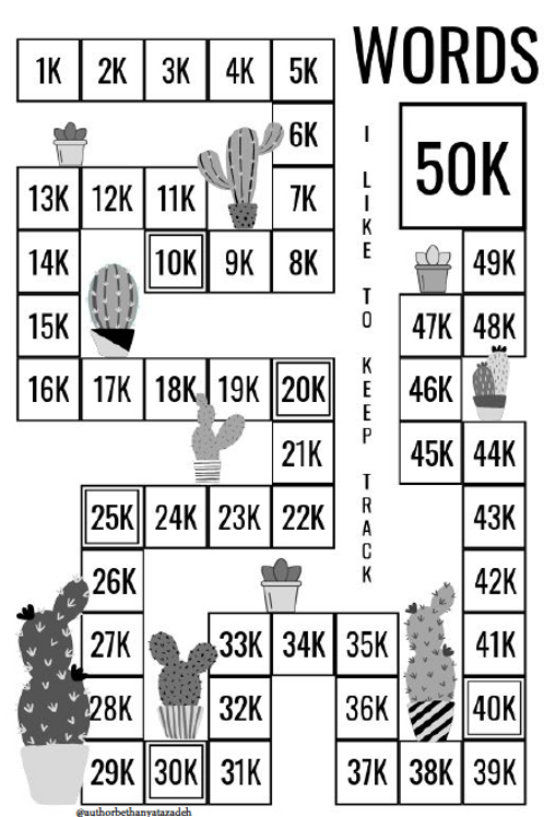 50,000 Word Tracker