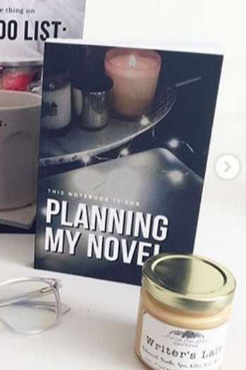 ADD ON (to Physical Writerly Care Packages) Planning a Novel Notebook (DARK)
