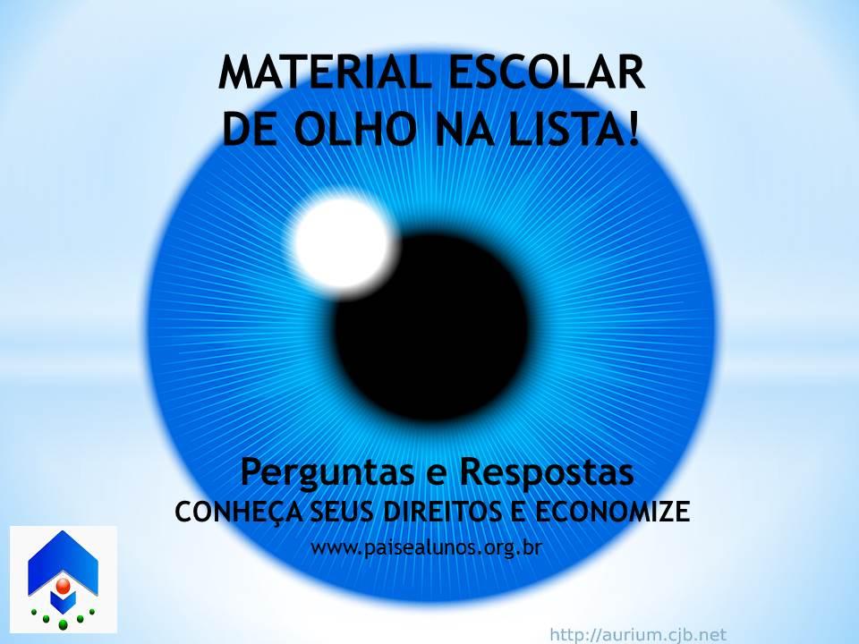 MATERIAL ESCOLAR DE OLHO NA LISTA