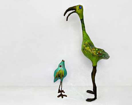 cypress and lee bird sculptures by ocasi