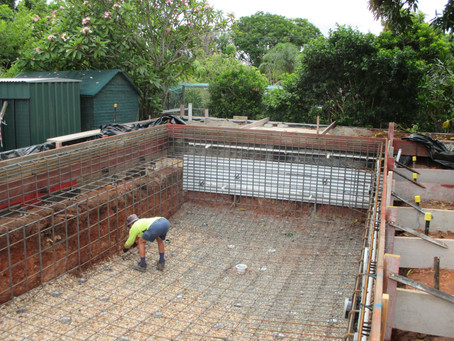 Pool construction | Exclusive Steel Homes