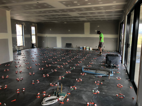 Interior tiles on track!