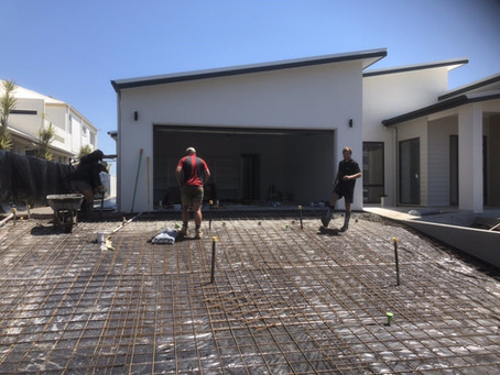 Driveway Nearly Complete | Exclusive Steel Homes