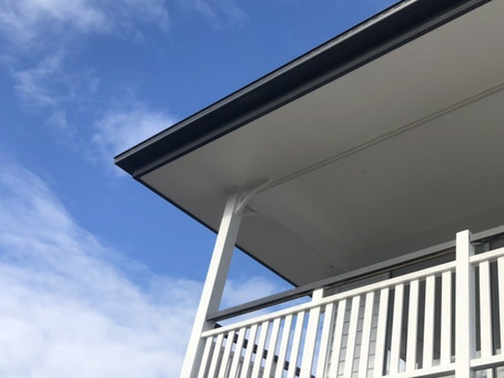 Beautiful balustrade on a beautiful day | Exclusive Steel Homes