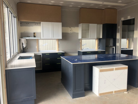 Hampton Kitchen Nearly Complete | Exclusive Steel Homes