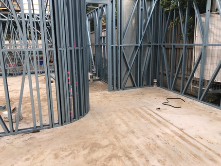 Curved Wall?  No probems! | Exclusive Steel Homes