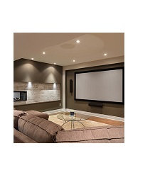 """Dragonfly™ Fixed 16:9 Matte White 120"""" Projection Screen"""