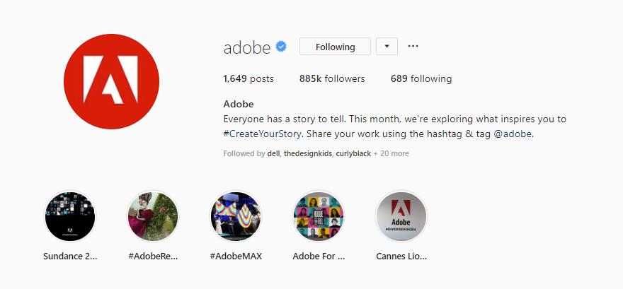 adobe Instagram