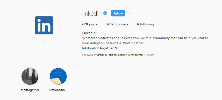 instagram linkedin