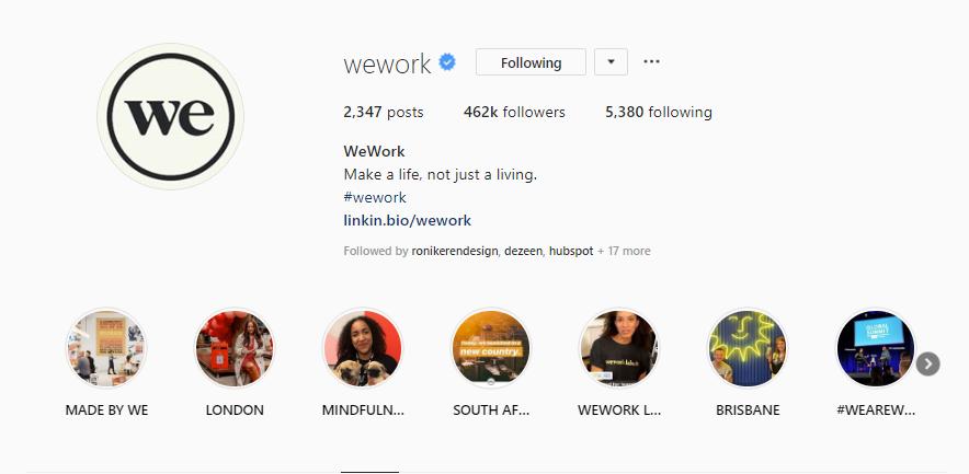 we work Instagram
