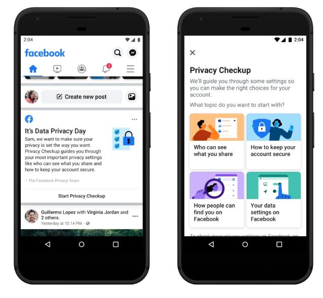 עדכוני הפרטיות של פייסבוק
