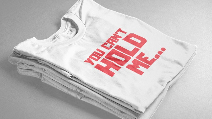 You Can't Hold Me (White/Red)