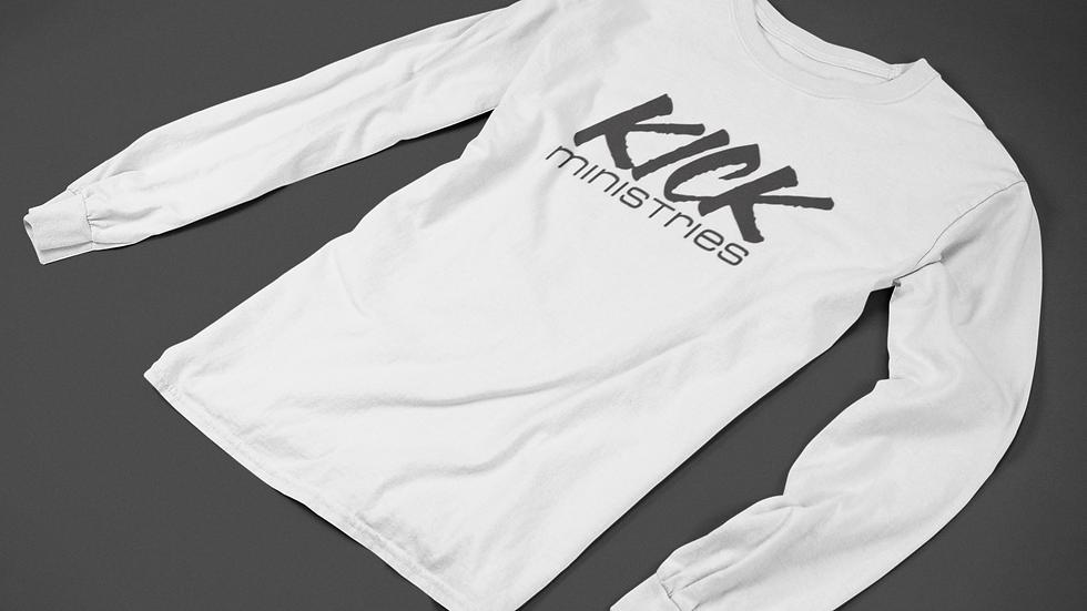 KICK Ministries Long-Sleeve - White/Black