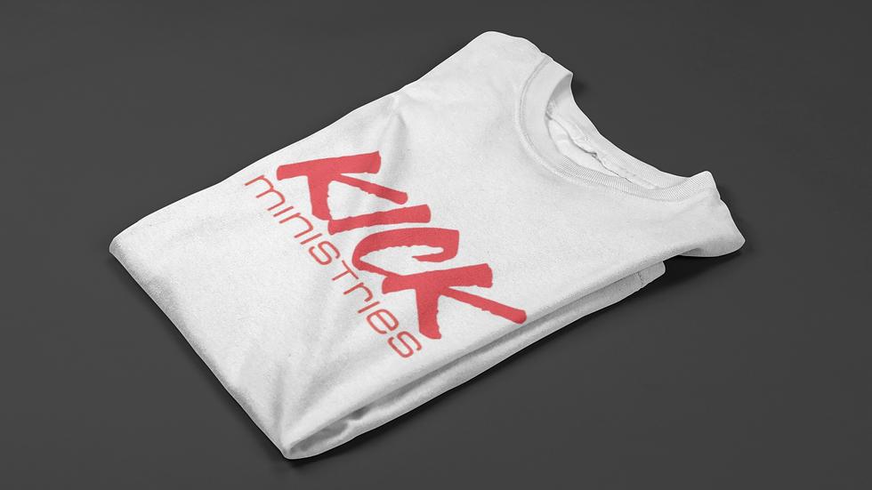 KICK Ministries T-Shirt - White/Red